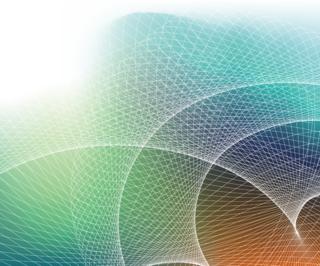 立体的な曲線が美しい網目の背景の無料イラスト