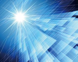 フレアが輝くハイテクイメージの青い背景の無料イラスト