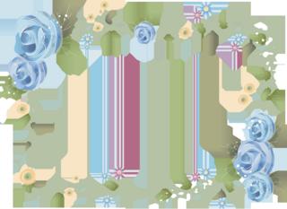 綺麗な花のフレームの無料イラスト