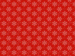赤地に雪の結晶のパターン無料イラスト