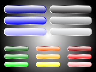 カラフルなボタンの無料イラスト