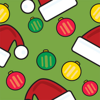 クリスマス帽子のかわいいパターン 無料イラスト