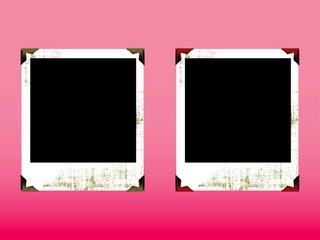 ビンテージのポラロイド写真のフレームの無料イラスト