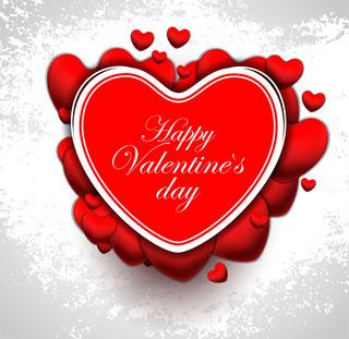 バレンタインデーのハートをデザインした無料イラスト