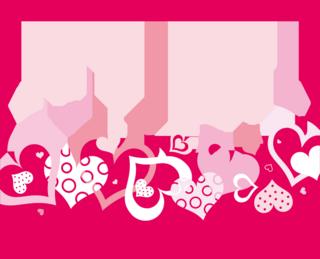 ハートをデザインしたバレンタインデーの背景の無料イラスト