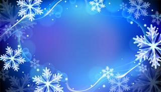 雪の降る冬の背景の無料イラスト