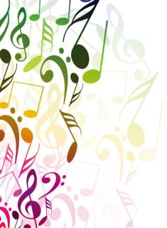 音符を並べた抽象的な背景の無料イラスト