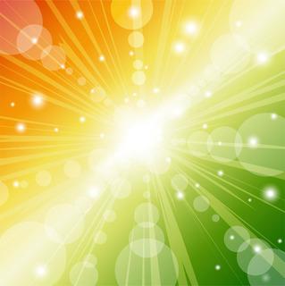 ビッグバンのような光の放射の無料イラスト