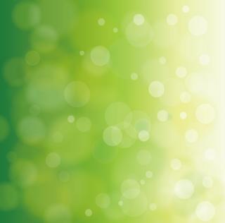 緑のグラデーションの中にきらめく泡の光のような背景の無料イラスト