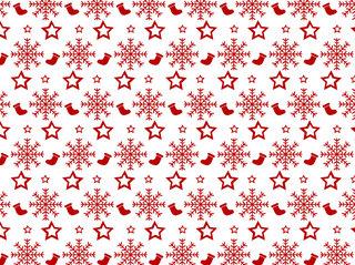 長靴と雪をデザインしたクリスマスパターン無料イラスト