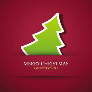シンプルなクリスマスカードの無料イラスト